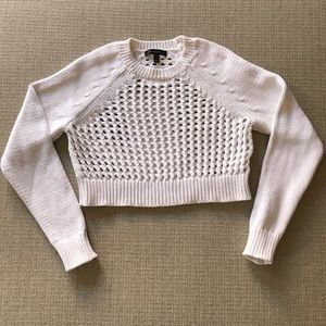 Banana Republic Cropped wide  knit sweater white S